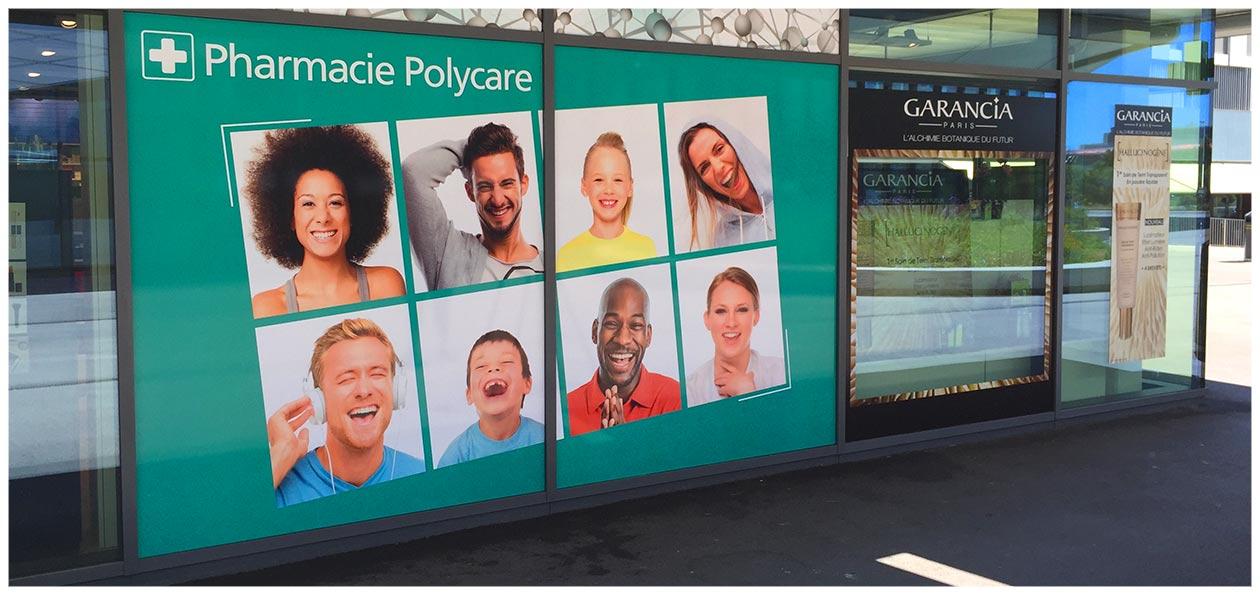 Marquage publicitaire vitrines